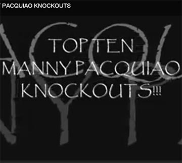 Top 10 Manny Pacquiao Moments