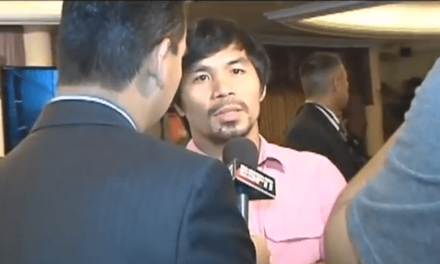 Manny Pacquiao interview RAW FOOTAGE