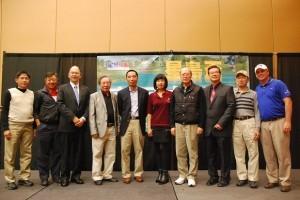 Group photos at the award dinner