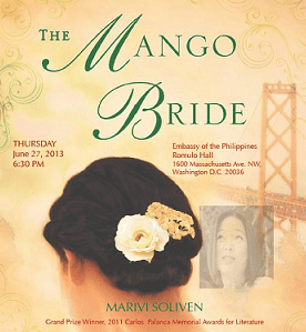 REMINDER: Invitation to The Mango Bride Reading and Reception on June 27, 6:30 pm