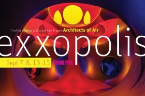 EXXOPOLIS Step into this interactive walk-in sculpture and immerse yourself in a luminous world of light, color and sound. As the opening event of The Music Center's World City season, Exxopolis embraces the city's many diverse communities and traditions through performances of Random Acts of World Culture. While exploring a dazzling maze of winding paths and soaring domes, encounter performances including a Brazilian berimbau, Japanese shakuhachi, Middle Eastern oud and many more. (www.musiccenter.org)