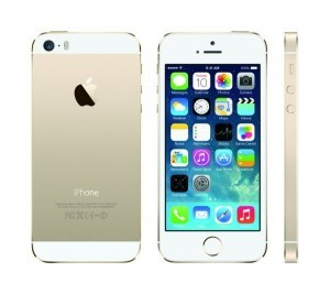 The iPhone 5S As predicted the new iPhone has a fingerprint scanner embedded in the home key. ©Apple Inc