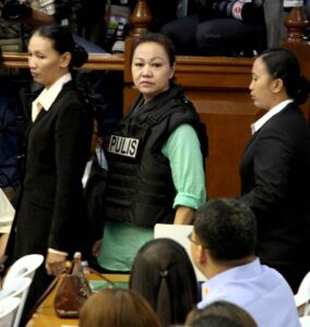 Janet Lim Napoles arrives at the Senate for the Blue Ribbon Committee hearing on the alleged P10 billion Priority Development Assistance Fund (PDAF) scam, which reportedly involves her group and several legislators. (MNS photo)