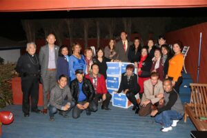 PCCI President Darna Umayam (6th from left, standing), together with Philippine Department of Tourism-Los Angeles Director Annie Cuevas-Lim (third from left, standing), City of Carson Mayor Jim Dear (8th from left, standing), other members of PCCI and Press Photographers of the Philippines-USA during a break while working on donations to be sent to the Philippines. Photo: Bobby Crisostomo (PPP-USA)