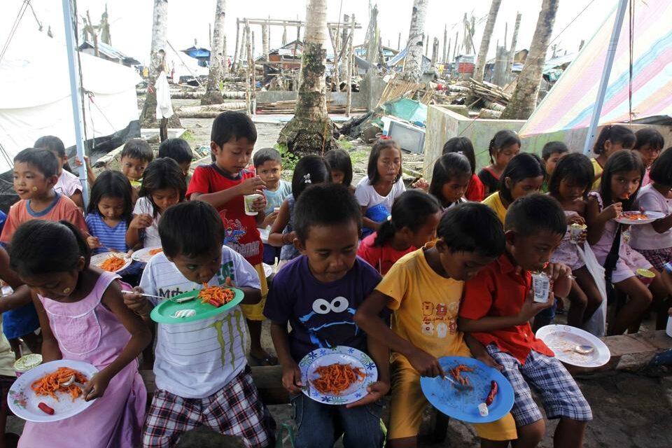 Defiant typhoon survivors welcome Christmas