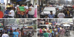 People in Tacloban City swarm the public market area on a sunny Thursday (December 26, 2013) after their Christmas celebration, including kids' caroling activities and visit to godparents and relatives, was spoiled by continuous rains on Christmas Day. (MNS photo)