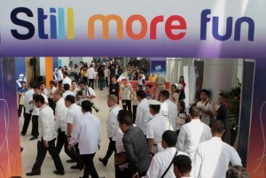 """President Benigno S. Aquino III graces the Philippine Travel Agencies Association 21st Travel Tour Expo 2014 at the SMX Convention Center, Seashell Drive, Mall of Asia Complex in Pasay City on Friday (February 14) with the theme: """"Love Life, Love Travel."""" The Department of Tourism (DOT) is projecting 2014 tourism revenues to hit P1.4 trillion, higher by P110.6 billion of the expected earnings from domestic tourism in 2013 due in large part to a forecasted increase in the daily expenditures of domestic tourists. (MNS photo)"""