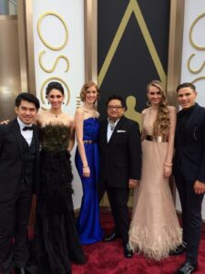 Marlou at the Academy Awards for the 'KTLA Live at the Red Carpet'