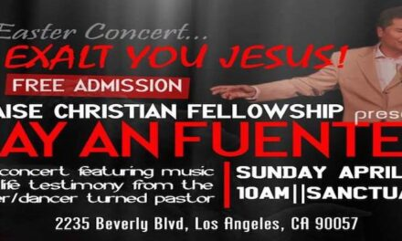 Ray An Fuentes in Christian Fellowship concert April 20