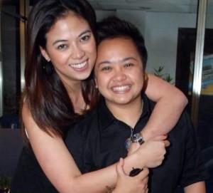 Aiza Seguerra and fiancee Liza Diño (MNS Photo)
