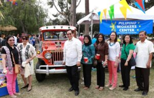 Madam Fides Herrera-Lim, Consul General Herrera-Lim, Deputy Consul General Imelda Panolong with officers and staff of the Philippine Consulate General.