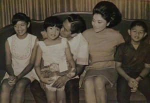 """The Marcoses in their past """"grandeur"""" when the late dictator Ferdinand Edralin Marcos was starting to rule the Philippines for 20 years."""