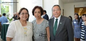 With UPCOE Dean Aura Matias and Dr. Luis Calingo Woodbury University President (right).