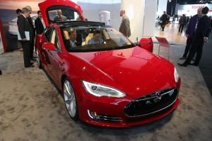 Tesla Model S: Tesla announced the release of its Internet-connected Model S sedan in Japan this week. ©Tesla/NAIAS