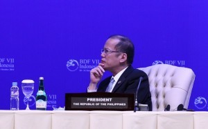 (BALI, Indonesia) President Benigno S. Aquino III focuses on the exchanges during the Opening Session of the 7th Bali Democracy Forum at the Nusantara Hall II of the Bali International Convention Center on Friday (October 10). The gathering is an annual, intergovernmental forum on the development of democracy in the Asia-Pacific region. (MNS photo)