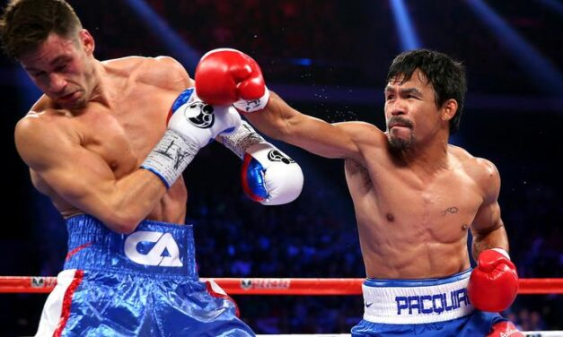 Pacquiao says Mayweather has 'nowhere to run'
