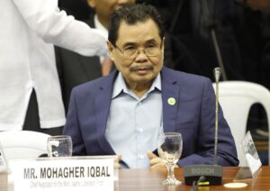 Moro Islamic Liberation Front (MILF) Chief Negotiator Mohagher Iqbal during the continuation of the hearing for SAF 44.(MNS photo)