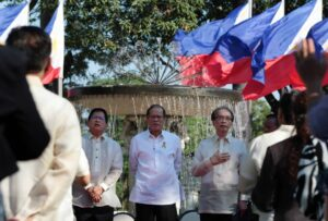 President Benigno S. Aquino III attends the Malacañang Prayer Gathering at the Malacañan Palace Grounds on Monday (March 09, 2015). (MNS photo)