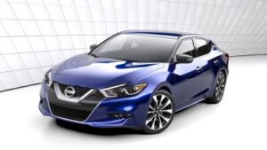 The 2016 Nissan Maxima The new car was almost a full second faster than a BMW 328i around the track. ©Nissan