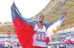 Olympic-bound Filipino-American Eric Cray swept to 100m victory at the Southeast Asian (SEA) Games on Tuesday as he led a Filipino-American assault on the athletics competition. Cray, who will represent the Philippines at next year's Olympics in the 400m hurdles, switched to 100m but easily won with a personal best of 10.25sec. (Photo posted on Facebook bearing Eric Cray's name)