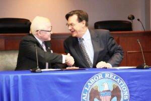 PHL-US COOPERATION: Apart from the latest agreement on sharing of account information to prevent tax evasion, the two countries have been launching programs to benefit both nations as shown in this recent photo where Ambassador Jose L. Cuisia, Jr. and NLRB General Counsel Richard Griffin signed the Memorandum of Understanding between the Office of the General Counsel of the NLRB and the DFA aimed at educating Filipino workers and business owners on their rights to freedom of association and collective bargaining, as provided under the National Labor Relations Act, which is the basic US law governing labor relations. (Photo by the National Labor Relations Board)