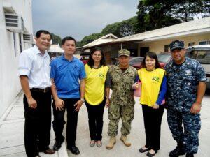 Jose M. Briones, G.Kenneth Lee, Nancy Dizon,US Navy SCPO Guy Gagui, Margarita M. Lagman, US Navy S7 Luis Siguenza (photo by P. Lagman)