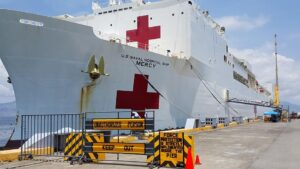 USNS Mercy (T-AH 19) ship where medical supplies from the US were loaded arrived at Subic Port on August 5, 2015. (photo courtesy of G.Kenneth Lee)