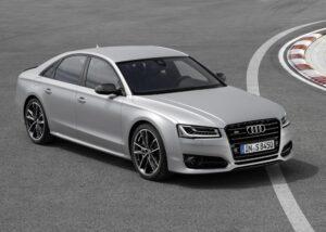 The Audi S8 plus. The car boasts 597bhp 4-liter 8V. ©Audi