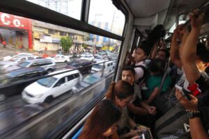 Commuters still opt to take the Metro Rail Transit (MRT) instead of braving the traffic on EDSA on Tuesday despite the reported improvement on the flow of traffic along the major thoroughfare. The Highway Patrol Group said it is still adjusting on their second day of managing traffic on EDSA. (MNS photo)