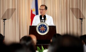 President Benigno S. Aquino III delivers his speech during the Philippine Quality Award (PQA) 17th Conferment Ceremony at the Rizal Hall of the Malacañan Palace on Tuesday (September 22). PQA is a national performance excellence program that recognizes achievements of public and private organizations in their journey towards organizational performance excellence. Patterned after the prestigious Baldrige Performance Excellence Program of US, the PQA is the highest award that can be received by any Philippine organization. (MNS photo)
