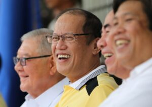 President Benigno S. Aquino III graces the inauguration  of the Senator Neptali Gonzales Academic Hall at the Rizal Technological University on Thursday (August 27). Also in photo are House Speaker Sonny Belmonte, DPWH Secretary Rogelio Singson and PCCO Secretary 'Sonny' Coloma. (MNS photo)