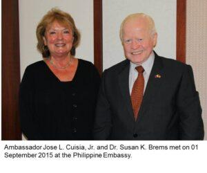 Ambassdor Jose L. Cuisia and Dr. Susan Brems
