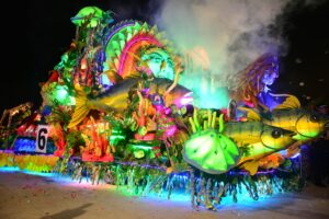 GENERAL SANTOS CITY (4 September 2015) – This SM City Gensan tuna float won 1st prize during the opening of the 17th Tuna Festival and 47th Charter Anniversary of the city Tuesday, September 1. The first prize was P300,000. Six companies and cooperatives joined the colorful light float parade that rolled down from Veranza mall of Gensan to the Oval Plaza. (Gensan CPIO/Jan Rey P. Libunao)
