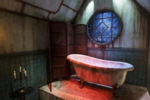 Guillermo del Toro tours the Crimson Peak maze at Halloween Horror Nights. Photo by David Sprague