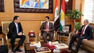 KURDISTAN TRAFFICKING CASE. Chargé d'Affaires Elmer Cato expresses the appreciation of the Philippine Embassy in Baghdad to Deputy Prime Minister Qubad Jalal Talabani and Minister of Labor and Social Affairs Mohammad Qadir of the Kurdistan Regional Government of Iraq for the successful rescue and repatriation of 10 Filipina trafficking victims from Erbil. The Embassy said the rescue and repatriation would not have been possible with the support and cooperation of the Kurdistan Regional Government. (Philippine Embassy Photo)