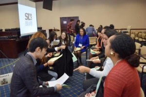 """Students role play being a fictional freshman member of Congress to get unique insight into legislative decisions during the """"Inside Congress"""" workshop."""